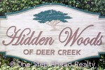 sign for Hidden Woods