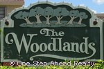 sign for The Woodlands