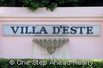sign for Villa DEste