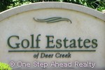 sign for Golf Estates