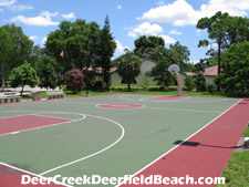 This is an excellent place to join in a pick-up basketball game evenings and weekends.
